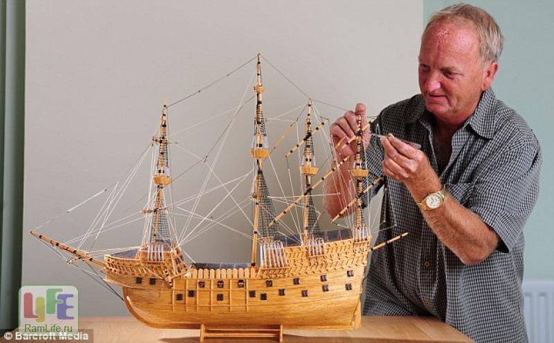 Как сделать корабль из спичек своими руками